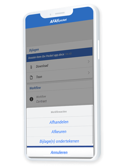 Digitaal ondertekenen in de AFAS Pocket app