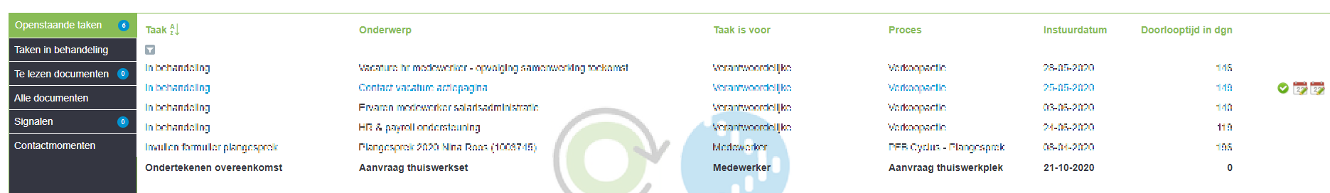 Workflow taak werkplek bestellen